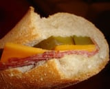 Salami and Pickle Party Sub