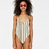 2127b91069927 Pull & Bear Reversible Swimsuit   Demi Lovato's Colorful Solid ...