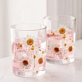 Urban Outfitters Pressed Daisy Glasses Set