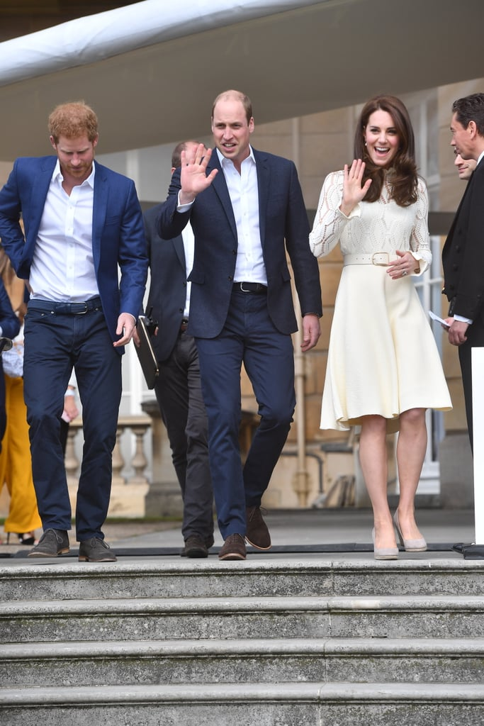 Prince Harry, Prince William, and Kate Middleton Hosted a Tea Party on the Palace Grounds
