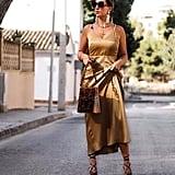 & Other Stories Rope Strap Midi Slip Dress