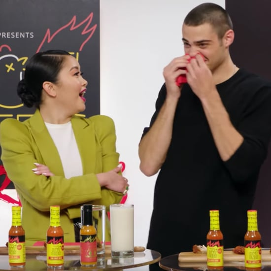 Noah Centineo and Lana Condor Eat Spicy Hot Wings | Video