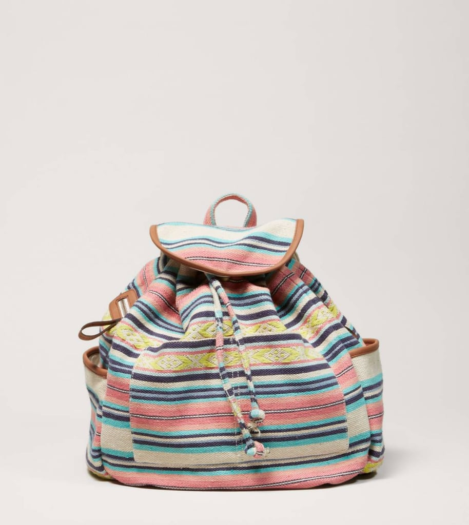Subtle but colorful stripes bring this AEO canvas backpack ($40) to life.