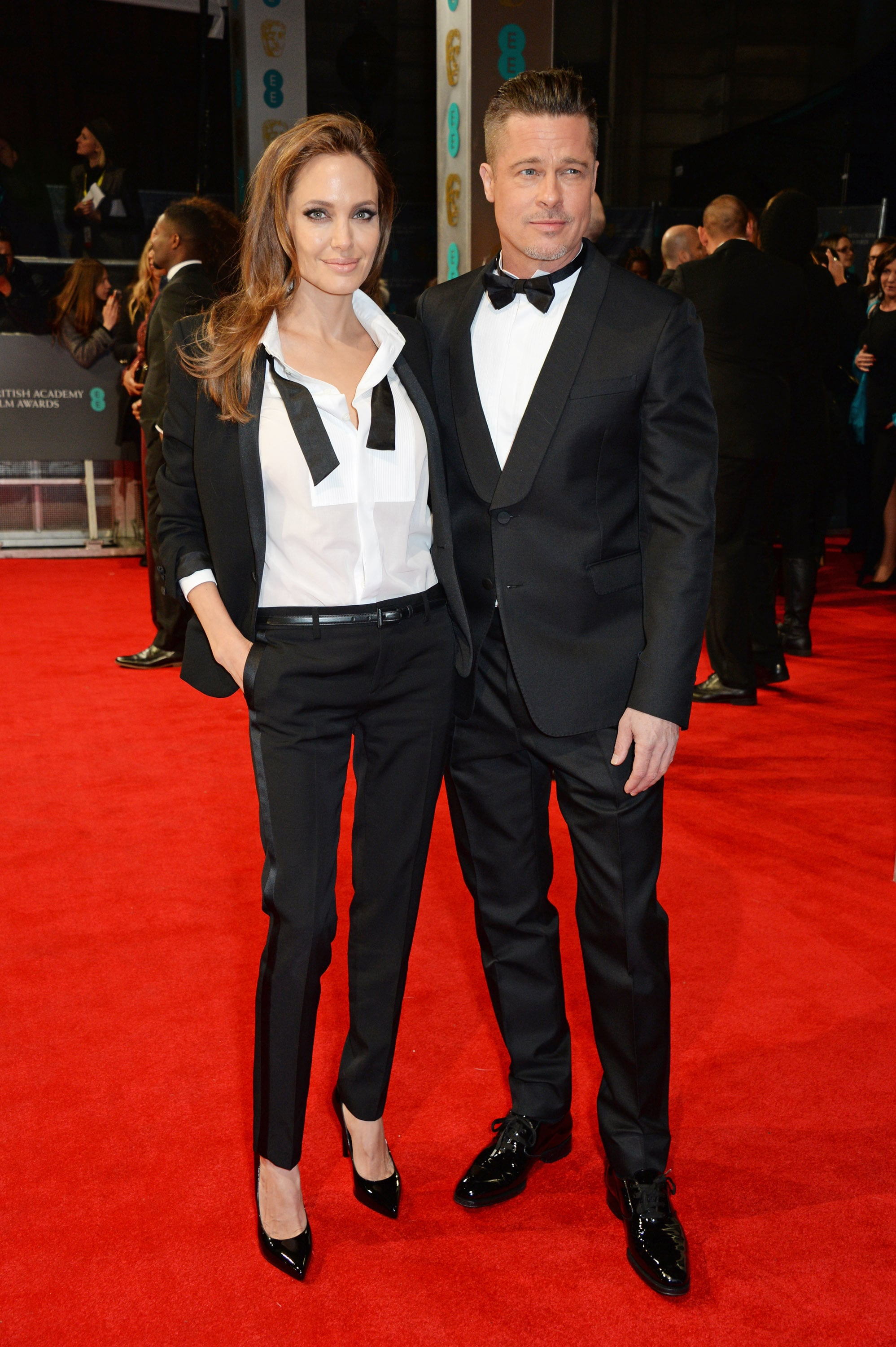 Angelina Jolie and Brad Pitt matched in suits at the BAFTAs, looking picture perfect, as always.