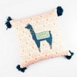Sunkissed Llama Throw Pillow