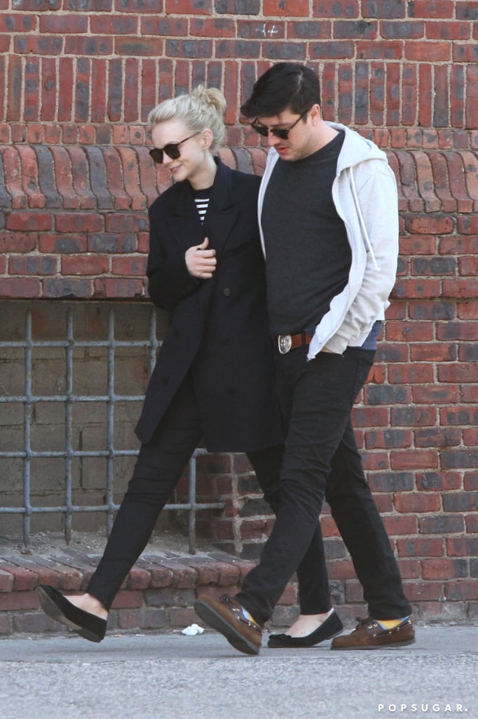 Carey Mulligan had her husband, Marcus Mumford, by her side.