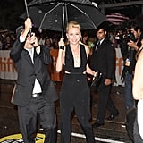 Naomi Watts didn't let the rain ruin her night at the St. Vincent premiere.