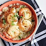 "Garlic Shrimp With Cauliflower ""Grits"""