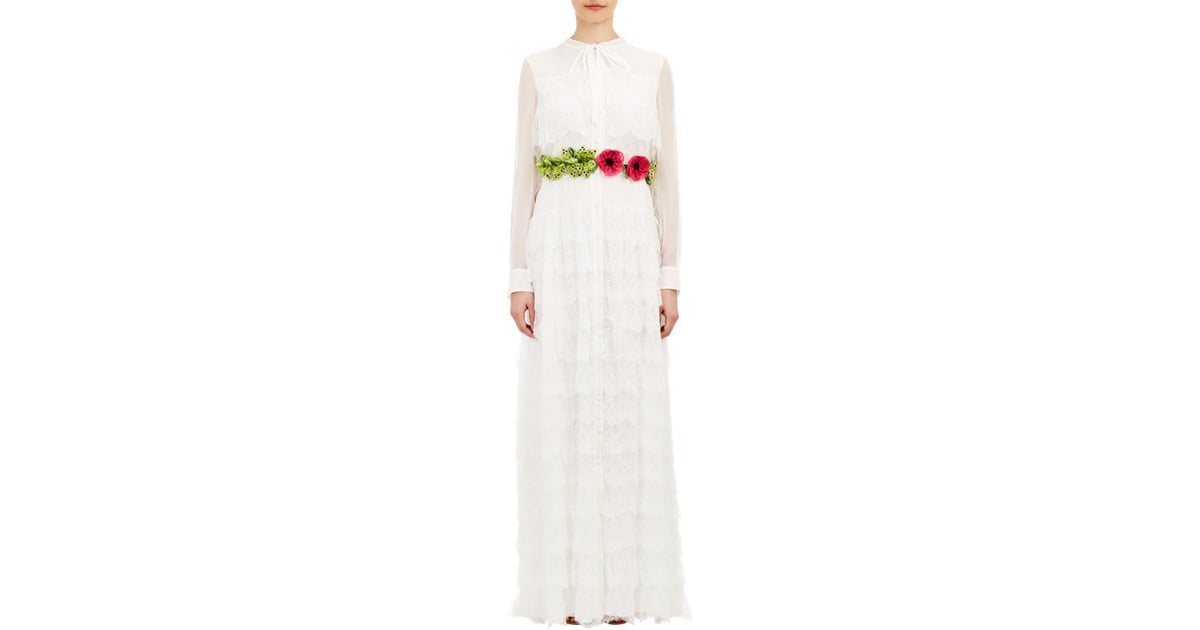 Valentino Lace-Tiered Chiffon Gown ($17,500) | Unique Wedding ...