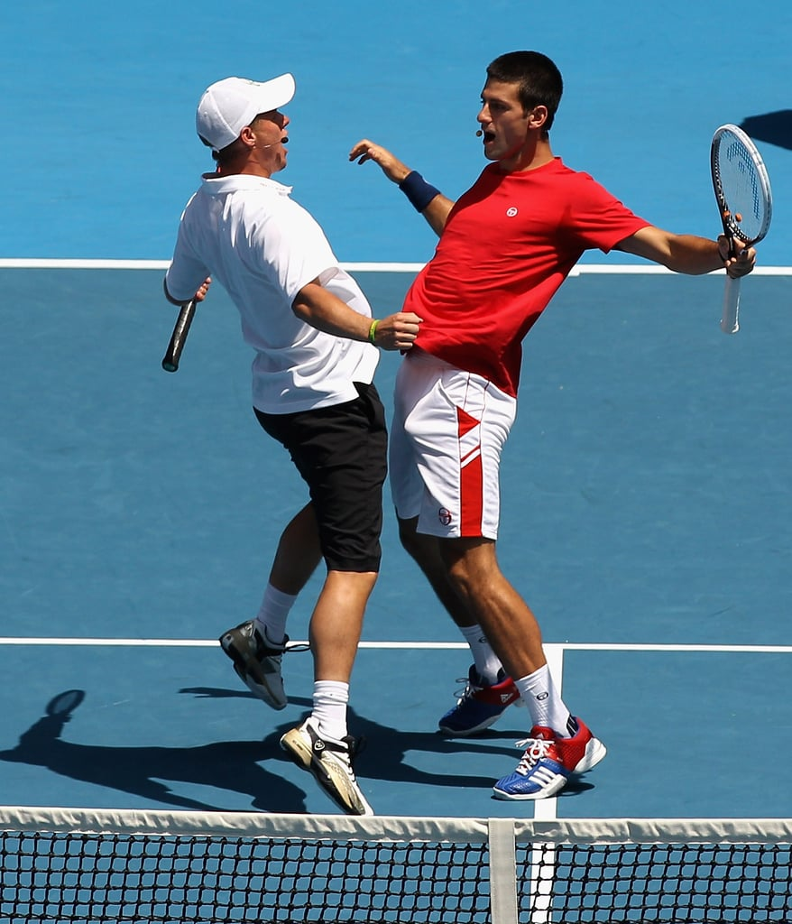 Lleyton Hewitt and Novak Djokovic