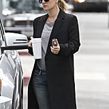 Drew Barrymore looked cute in shades and a ponytail as she walked to her car in LA.