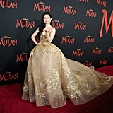 Liu Yifei Wearing Elie Saab at the Mulan Premiere