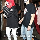 Halsey and Evan Peters at Halloween Party Pictures