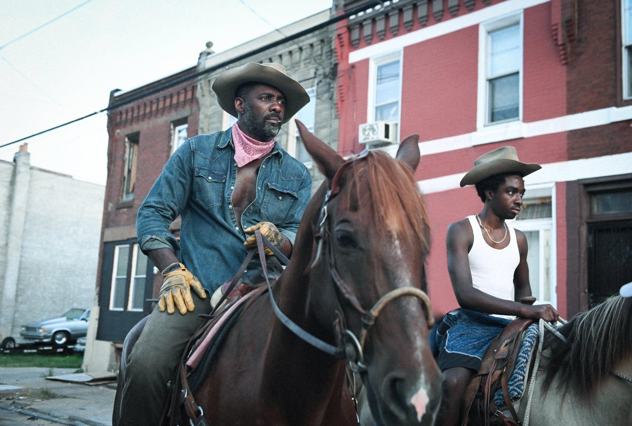 CONCRETE COWBOY - (L-R) Idris Elba as Harp and Caleb McLaughlin as Cole.  Cr. Aaron Ricketts / NETFLIX © 2021