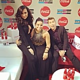 Lance Bass posted a picture of his run-in with Jordin Sparks and Naya Rivera. Source: Instagram user lancebass