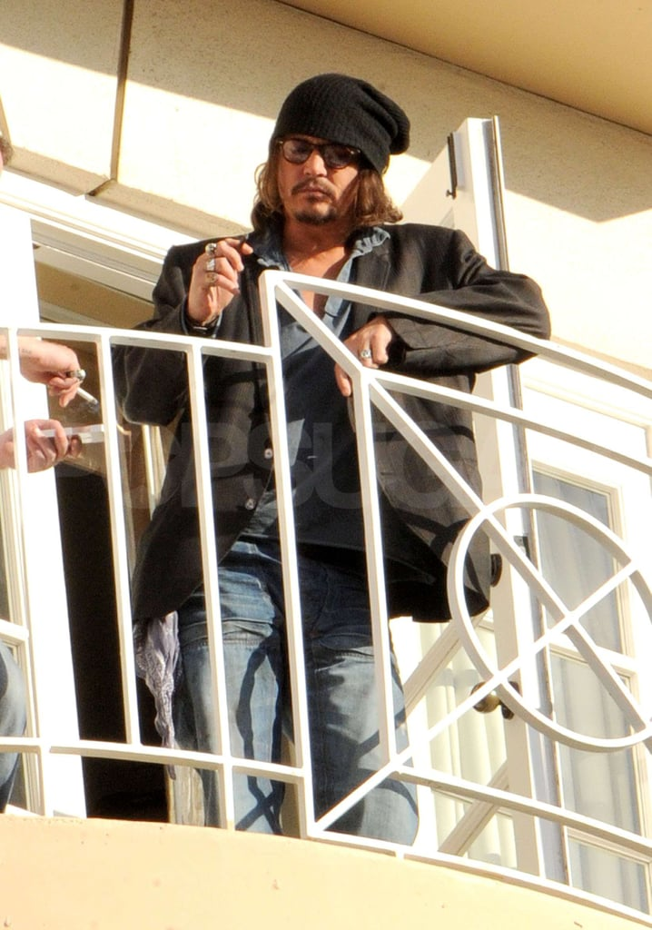 Johnny Depp Drags His Hot Self Outside During a Press Junket