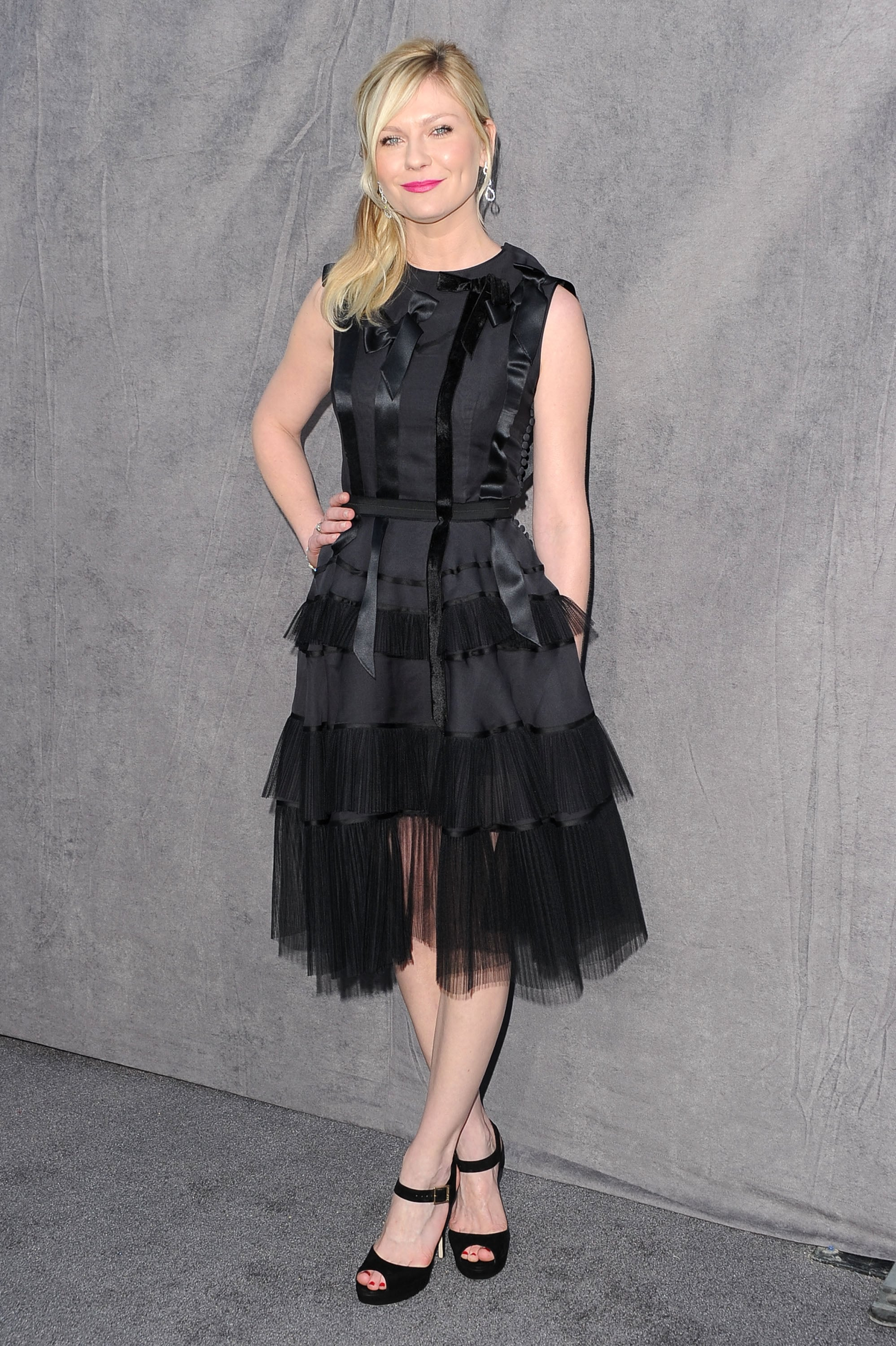 Kirsten Dunst wore a black Dior dress at the 2012 Critics' Choice Movie Awards.