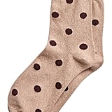 Metallic Polka Dot Crew Sock