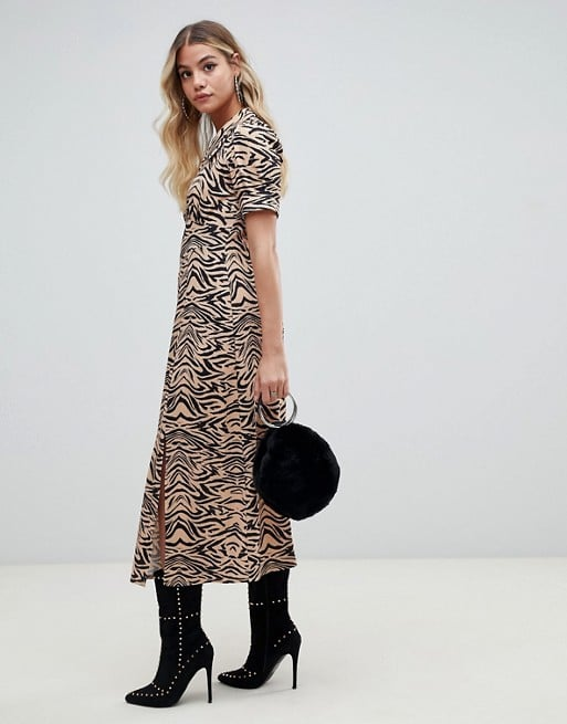 ASOS DESIGN Animal Print Midi Dress