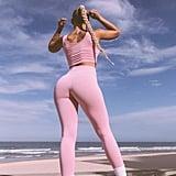 Saski Collections Light Pink High Waisted Leggings