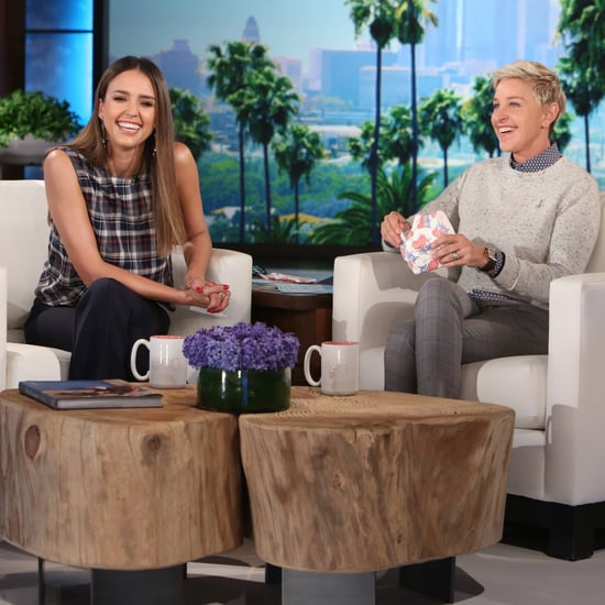 Jessica Alba on the Ellen Show November 2016