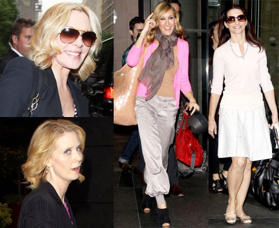 Pictures of Sarah Jessica Parker, Kim Cattrall, Cynthia Nixon and Kristin Davis Promoting Sex and the City 2 in NYC