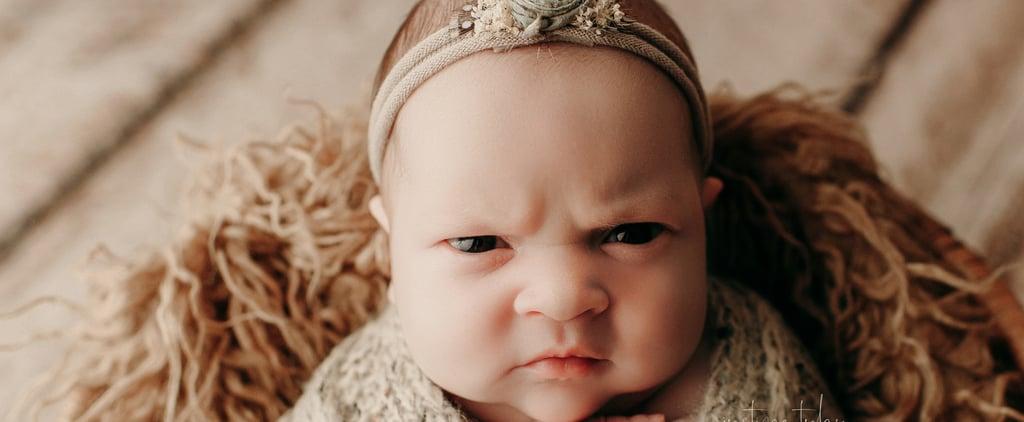 Photos of a Baby Flashing a Mean Mug