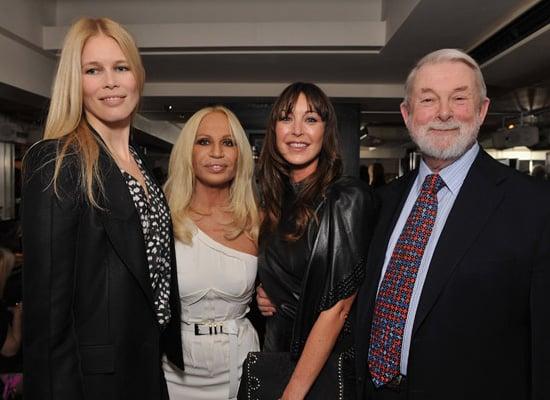 Fashion Fringe 2009 Launch Party with Claudia Schiffer, Natalia Vodianova and Donatella Versace
