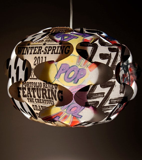 Typography Ceiling Lamp ($60)