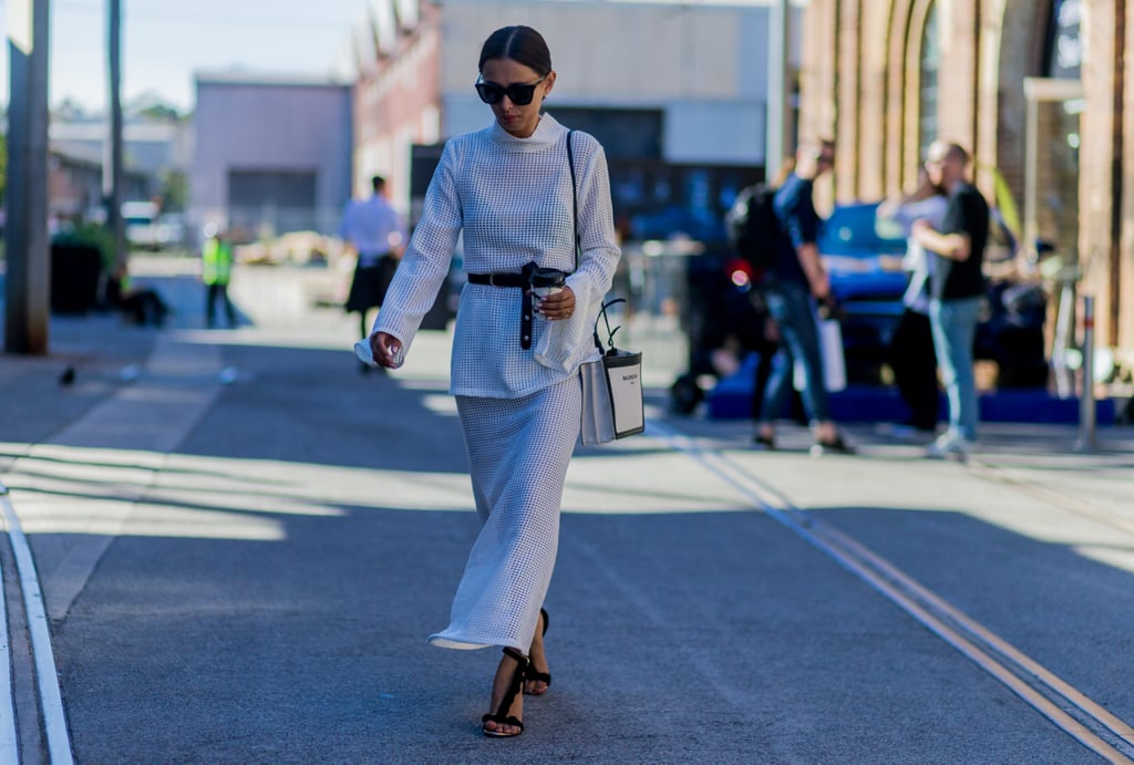 Break Up a Monochrome Look by Tying Your Leather Belt Into a Vertical Loop