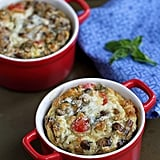 Make-Ahead Baked Egg Recipe With Turkey Sausage, Mushrooms, and Tomatoes