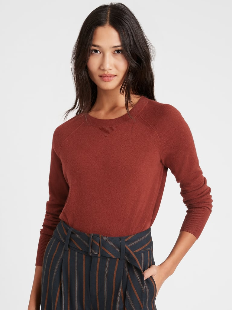 Banana Republic Italian Wool-Blend Cropped Sweater