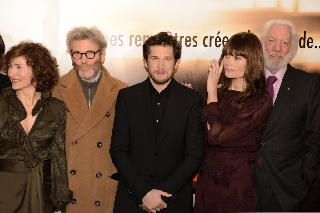 Guillaume Canet posed with his costars in Paris.