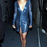 Backstage at the Vogue Fashion Awards in New York City in January 2001