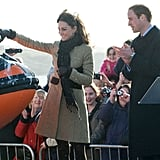 Kate Middleton joined Prince William for an event  in February, 2011 in Wales.