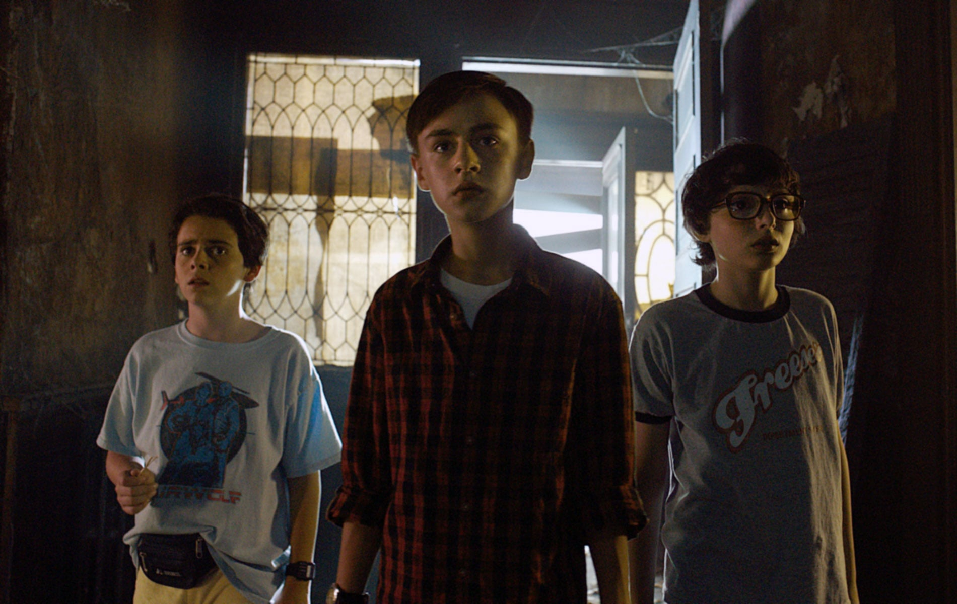 IT, from left: Jack Dylan Grazer, Jaeden Lieberher, Finn Wolfhard, 2017.  Warner Bros. /Courtesy Everett Collection