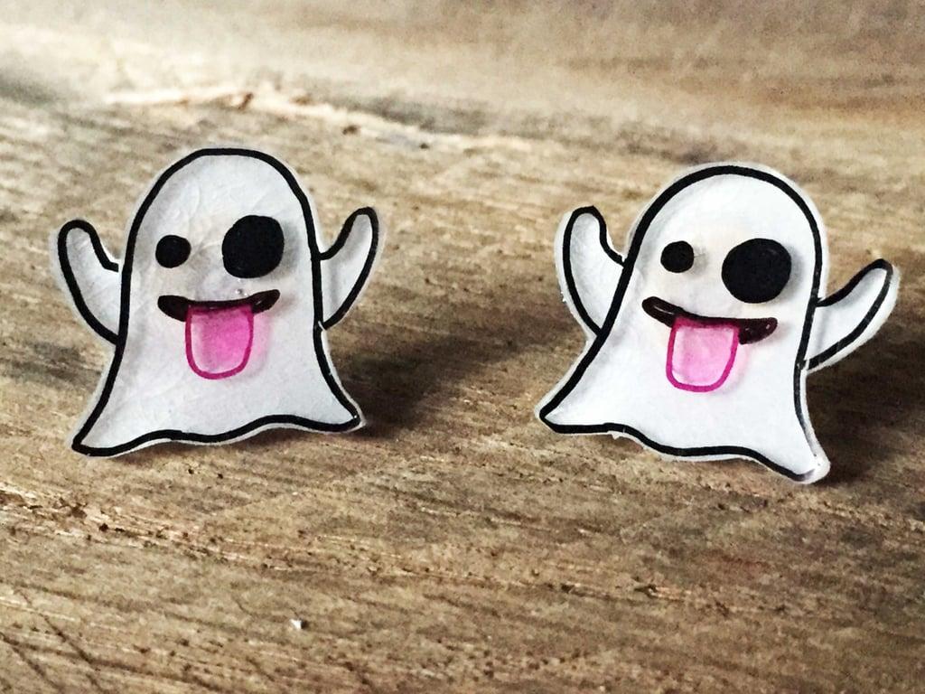 Ghost emoji earrings ($6)