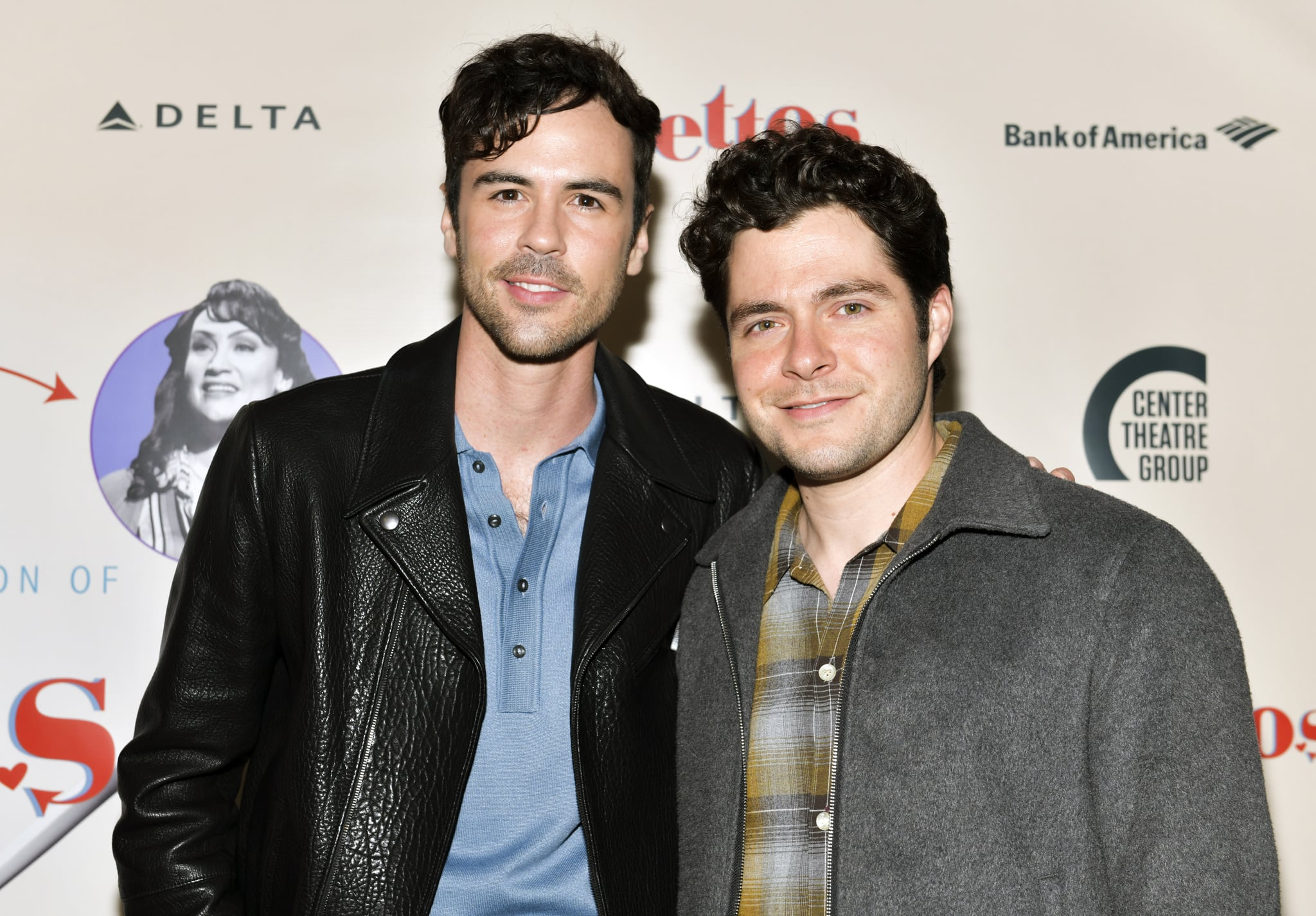 LOS ANGELES, CALIFORNIA - APRIL 17: Blake Lee (L) and Ben Lewis attend the opening of Center Theatre Group's