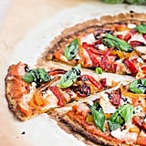 Sautéed Pepper, Goat Cheese, and Basil Pizza on Cauliflower Crust