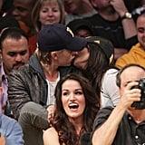 September 2012: Vanessa and Austin Kiss at a Knicks Game