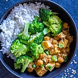 Orange Tofu Chickpea Bowl