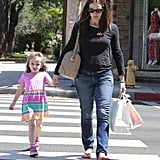 Jennifer Garner and Seraphina Affleck held hand in LA.
