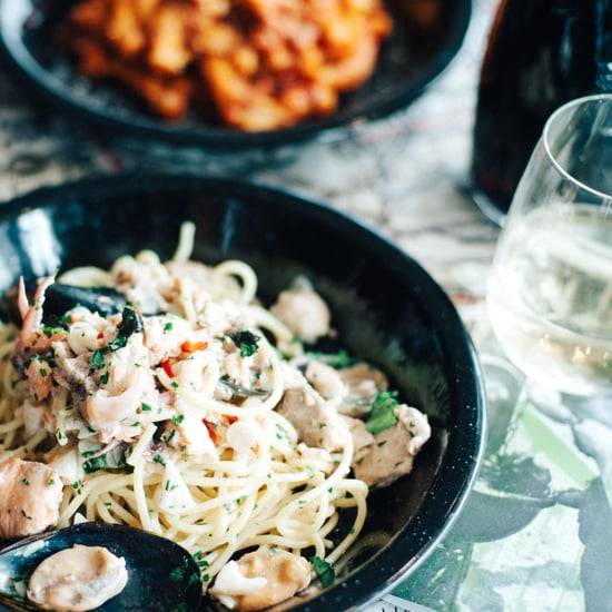Italian Street Kitchen Spaghetti Bianco Marinara Recipe