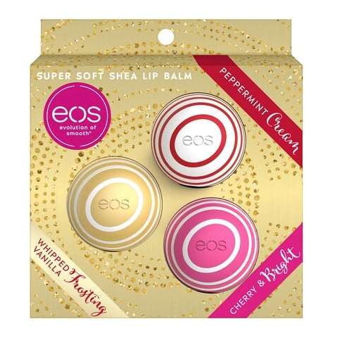 eos Limited Edition Holiday Lip Balm 3-Pack Set