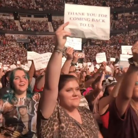Fans Held Up Signs During the Jonas Brothers' Nashville Show
