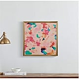 Spring Pink Floral Print in a Gold Wood Frame
