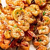 Shrimp Skewers With Lemon Herb Butter Sauce