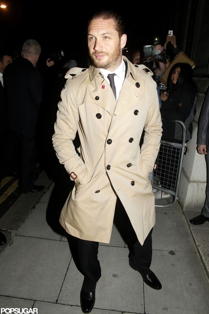 Tom Hardy looked dapper for the premiere of his new film.
