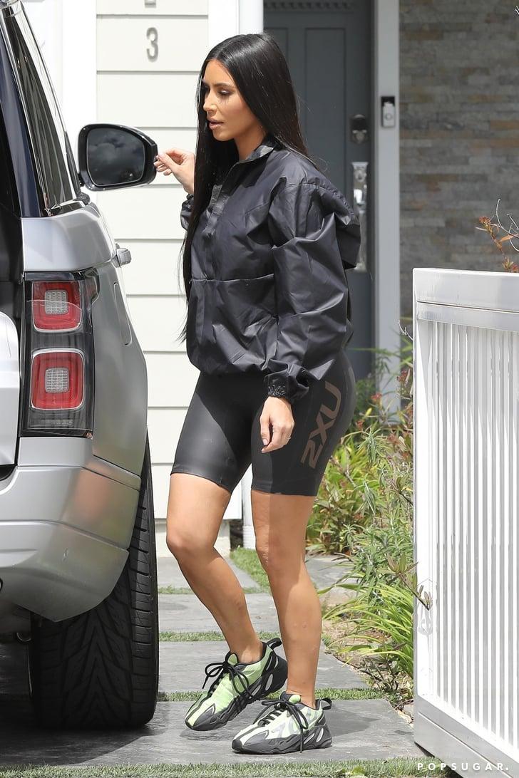 Kim Kardashian Rocking Yeezy Bike