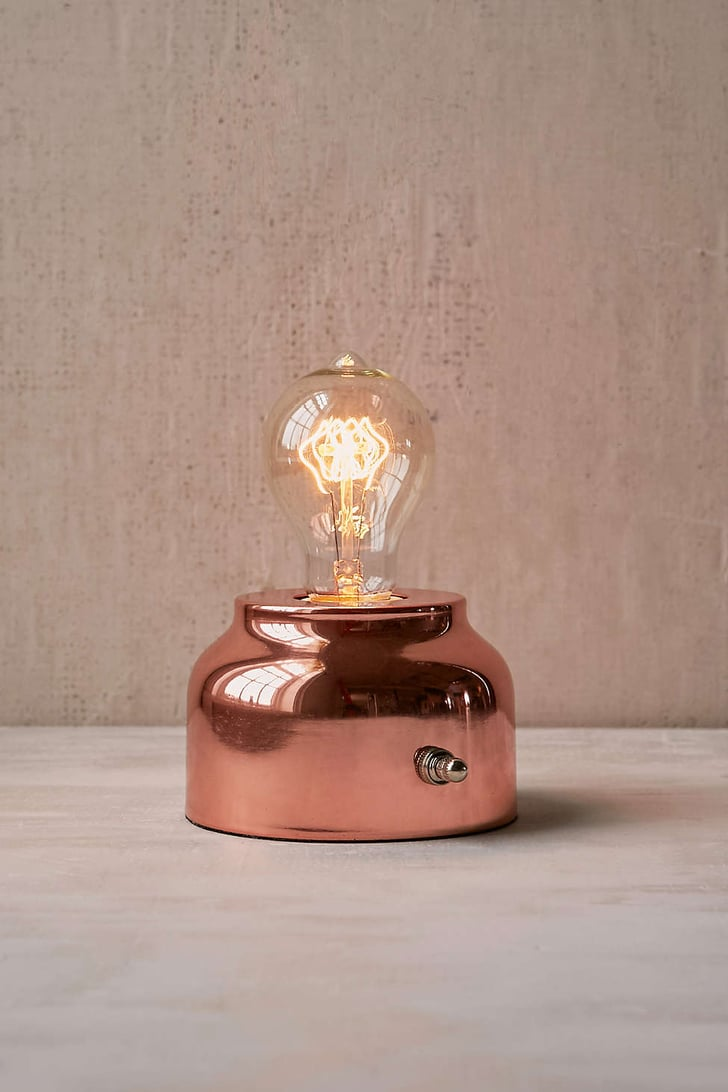 General store lamp 39 rose gold home decor popsugar for Gold home decorations
